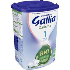 Gallia Calisma 1 lait 1er âge bio en poudre dès la naissance à 6 mois 800g