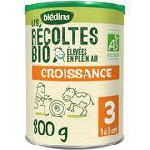 Blédina Blédina Lait de croissance bio liquide de 12 mois à 3 ans 800g