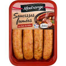 MADRANGE Saucisses fumées au bois de hêtre 4 pièces 360g