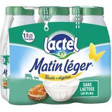 LACTEL Matin léger Lait écrémé sans lactose UHT 6x1L