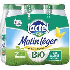 LACTEL Lactel matin léger bio écrémé 6x1l