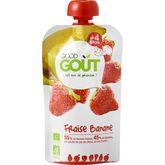 Good Goût bio fraise banane 120g dès 6 mois