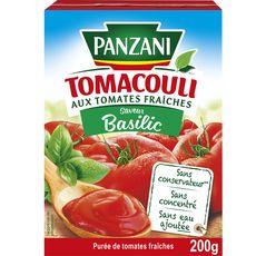 PANZANI Tomacouli purée de tomates fraîches au basilic sans conservateur, en brique 200g