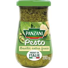 Panzani PANZANI Sauce pesto au basilic extra frais produit en Italie, en bocal
