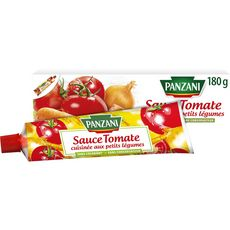 PANZANI Sauce tomate cuisinée petits légumes ss conservateur ni colorant, en tube 180g