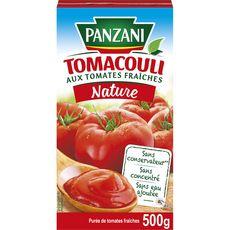 PANZANI Tomacouli purée de tomates fraîches sans conservateur, en brique 500g