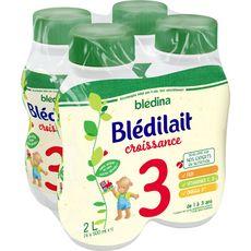 Blédina Blédilait 3 lait de croissance liquide de 12 mois à 3 ans 4x500ml