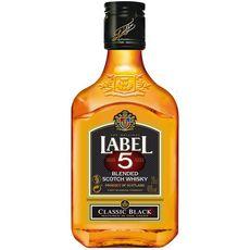 Label 5 Scotch whisky classic black 40% flask 20cl