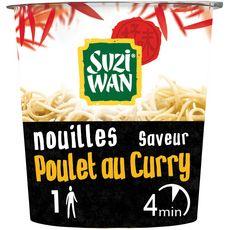SUZI WAN Nouilles asiatiques instantanées saveur poulet au curry 1 personne 62g