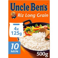 UNCLE BEN'S Riz long grain en sachets 4 sachets 500g