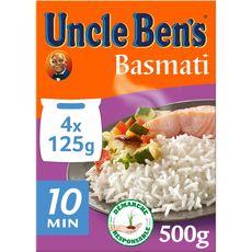 UNCLE BEN'S Uncle Ben's Riz basmati en sachets 4x125g 4 sachets 500g