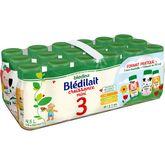 Blédina Blédina Blédilait 3 lait de croissance liquide de 12 mois à 3 ans 18x25cl