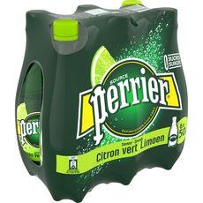 PERRIER Eau gazeuse aromatisée au citron vert bouteilles 6x50cl