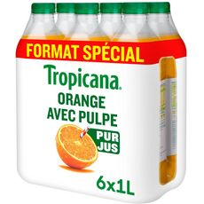 Tropicana orange pur premium avec pulpe 6x1l