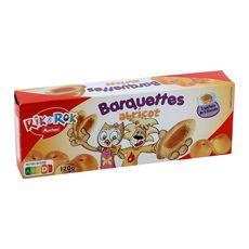 AUCHAN RIK & ROK Barquettes goût abricot, sachets fraîcheur 3x6 biscuits 120g