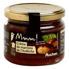 AUCHAN GOURMET Crème de marrons de l'Ardèche au sucre de canne 325g