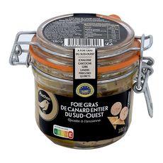 AUCHAN MMM! Foie gras de canard entier du Sud-Ouest IGP à l'ancienne 180g