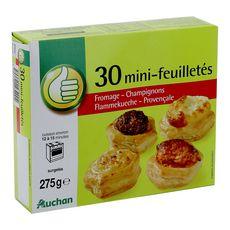 AUCHAN ESSENTIEL Mini-feuilletés apéritif 30 pièces 275g