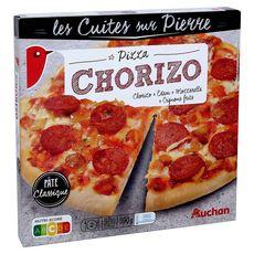 AUCHAN Pizza cuite sur pierre au chorizo 390g
