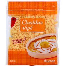 AUCHAN Cheddar râpé 150g
