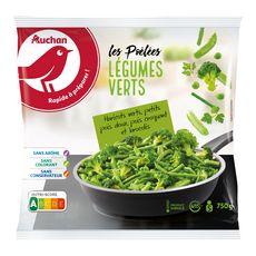 AUCHAN Poêlée de légumes verts 5 portions 750g