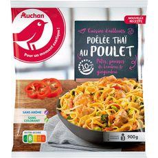 AUCHAN Poêlée thaï au poulet 3 portions 900g