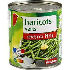 AUCHAN Haricots verts extra fins 440g