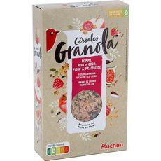 AUCHAN Auchan céréales granola fruits rouges 375g