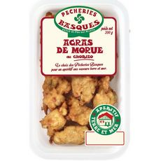 Pêcheries Basques Acras de morue au chorizo 200g