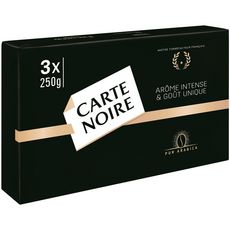 CARTE NOIRE Café moulu pur arabica 3X250g