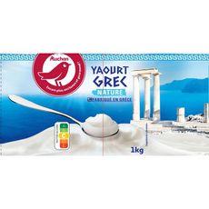 AUCHAN Auchan yaourt grecque nature 1kg 1kg