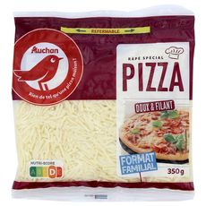 AUCHAN Fromage râpé pour pizza 350g