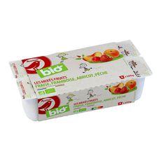AUCHAN BIO Yaourt bio les mixés fruits 8x100g