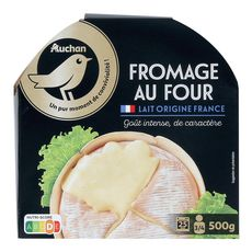 AUCHAN Auchan Fromage au four 3-4 portions 500g 3-4 portions 500g