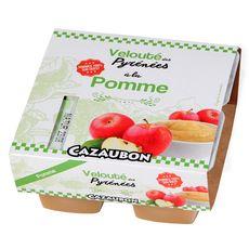 CAZAUBON Velouté de pomme 4x125g