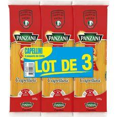 PANZANI Panzani capellini pâtes fantaisies 3x500g