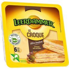 LEERDAMMER Le Croque Fromage pour croque monsieur 6 tranches 150g