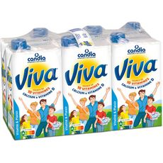 CANDIA Viva lait vitaminé UHT 6x1L