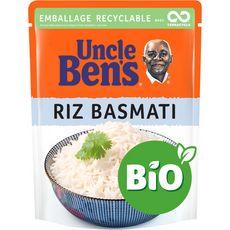 Uncle Ben's Riz Basmati Bio sachet recyclable prêt en 2 min 240g