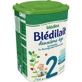 Blédina Blédina Blédilait 2 lait 2ème âge en poudre de 6 à 12 mois 900g
