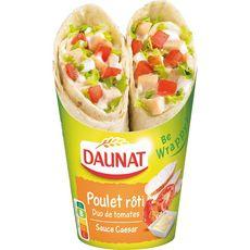 Daunat be wrap poulet caesar 190g