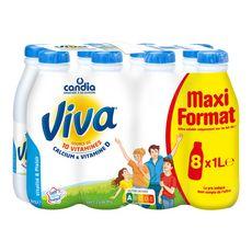 Candia Viva lait demi-écrémé vitaminé UHT 8x1l