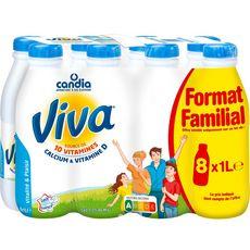 CANDIA Viva Lait vitaminé UHT 8X1l