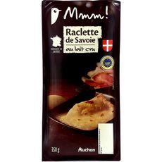 AUCHAN MMM! Fromage à raclette de Savoie au lait cru AOP 2/3 Personnes 350g