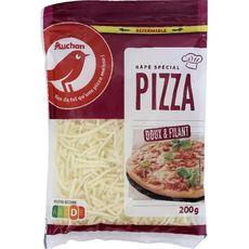 AUCHAN Râpé spécial pizza doux et filant 200g