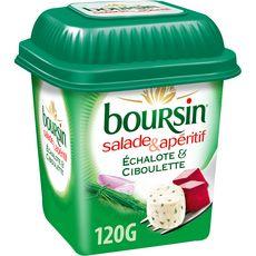 BOURSIN Salade & Apéritif Dés de fromage échalote et ciboulette 120g