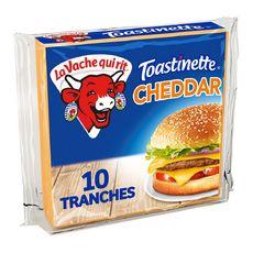 LA VACHE QUI RIT Toastinette Fromage cheddar pour hamburger 10 tranches 200g