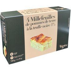 REGNIER Régnier Millefeuilles de pommes de terre à la truffe noire x4 340g 4 pièces 340g