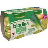 Blédina pot purée poireaux 2x130g dès 4 mois