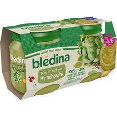 BLEDINA Blédina Mon 1er petit pot Purée d'artichaut dès 4 mois 2x130g 2x130g